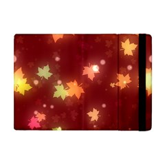 Leaf Leaves Bokeh Background Apple Ipad Mini Flip Case
