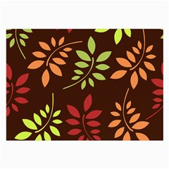 Leaves Foliage Pattern Design Large Glasses Cloth (2 Side)