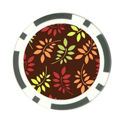Leaves Foliage Pattern Design Poker Chip Card Guard