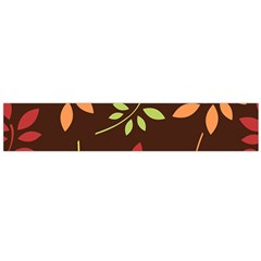 Leaves Foliage Pattern Design Large Flano Scarf  by Mariart