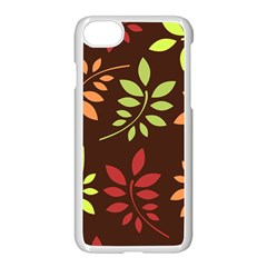 Leaves Foliage Pattern Design Apple Iphone 8 Seamless Case (white) by Mariart