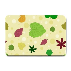 Leaves Background Leaf Small Doormat