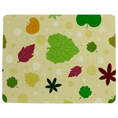 Leaves Background Leaf Jigsaw Puzzle Photo Stand (rectangular) by Mariart