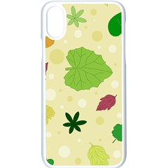 Leaves Background Leaf Apple Iphone X Seamless Case (white) by Mariart