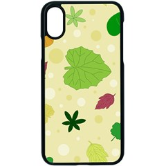 Leaves Background Leaf Apple Iphone Xs Seamless Case (black) by Mariart
