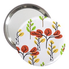 Tree Auntumn Leaf 3  Handbag Mirrors by Alisyart