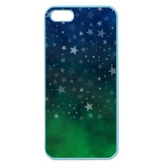 Background Blue Green Stars Night Apple Seamless Iphone 5 Case (color)