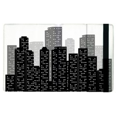 Building Town City Night Urban Apple Ipad 2 Flip Case by AnjaniArt