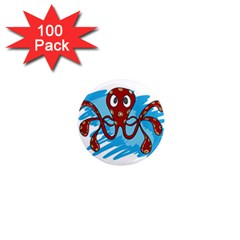 Octopus Sea Ocean Cartoon Animal 1  Mini Magnets (100 Pack)