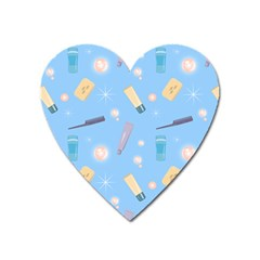 Bathroom Pattern Bath Shampoo Tube Heart Magnet by AnjaniArt