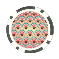 Background Floral Pattern Pink Poker Chip Card Guard (10 Pack)