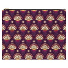 Background Floral Pattern Purple Cosmetic Bag (xxxl)