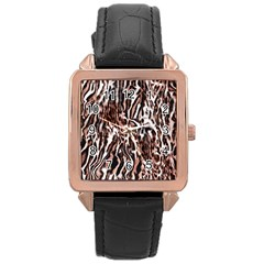 Luxury Animal Print Rose Gold Leather Watch  by tarastyle