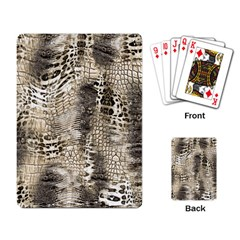 Luxury Animal Print Playing Cards Single Design by tarastyle