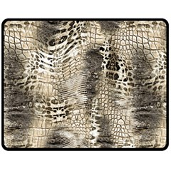 Luxury Animal Print Fleece Blanket (medium)  by tarastyle