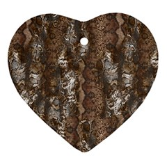 Luxury Animal Print Ornament (heart) by tarastyle