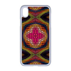 Kaleidoscope Art Pattern Ornament Apple Iphone Xr Seamless Case (white)