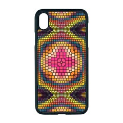Kaleidoscope Art Pattern Ornament Apple Iphone Xr Seamless Case (black)