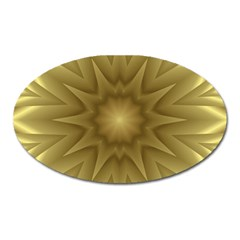 Background Pattern Golden Yellow Oval Magnet