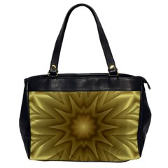 Background Pattern Golden Yellow Oversize Office Handbag