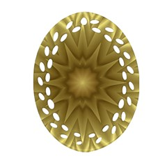 Background Pattern Golden Yellow Oval Filigree Ornament (two Sides)