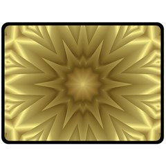 Background Pattern Golden Yellow Double Sided Fleece Blanket (large)