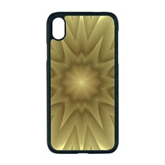 Background Pattern Golden Yellow Apple Iphone Xr Seamless Case (black)