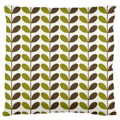 Leaf Plant Pattern Seamless Large Flano Cushion Case (two Sides)