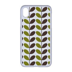 Leaf Plant Pattern Seamless Apple Iphone Xr Seamless Case (white)