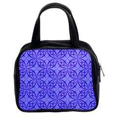 Decor Pattern Blue Curved Line Classic Handbag (two Sides) by Pakrebo