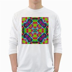 Farbenpracht Kaleidoscope Pattern Long Sleeve T Shirt by Pakrebo