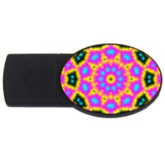 Background Fractal Structure Usb Flash Drive Oval (2 Gb) by Pakrebo