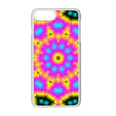 Background Fractal Structure Apple Iphone 8 Plus Seamless Case (white)