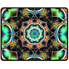 Fractal Chaos Symmetry Psychedelic Double Sided Fleece Blanket (medium)