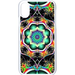 Fractal Chaos Symmetry Psychedelic Apple Iphone Xs Seamless Case (white)