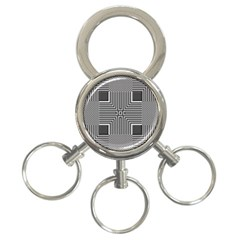 Construction Background Geometric 3 Ring Key Chains by Pakrebo