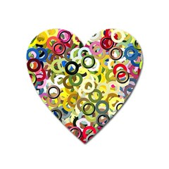 Pattern Background Abstract Color Heart Magnet by Pakrebo