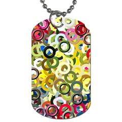 Pattern Background Abstract Color Dog Tag (one Side)