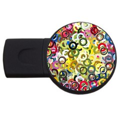 Pattern Background Abstract Color Usb Flash Drive Round (2 Gb)