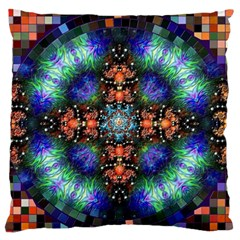 Mosaic Kaleidoscope Form Pattern Standard Flano Cushion Case (one Side) by Pakrebo