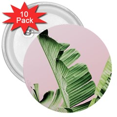 Banana Leaf 3  Buttons (10 Pack)  by goljakoff