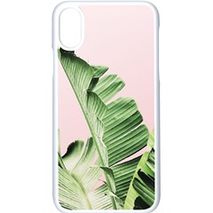Banana Leaf Apple Iphone Xs Seamless Case (white) by goljakoff