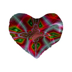 Fractal Art Pictures Digital Art Standard 16  Premium Flano Heart Shape Cushions by Pakrebo