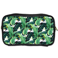 Tropical Banana Leaves Toiletries Bag (one Side) by goljakoff