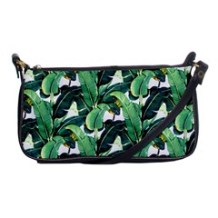 Tropical Banana Leaves Shoulder Clutch Bag by goljakoff