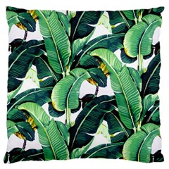 Tropical Banana Leaves Large Cushion Case (one Side) by goljakoff