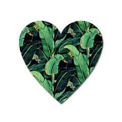 Night Tropical Leaves Heart Magnet by goljakoff