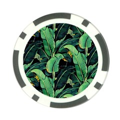 Night Tropical Leaves Poker Chip Card Guard (10 Pack) by goljakoff