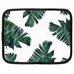 Tropical Leaves Netbook Case (xxl) by goljakoff