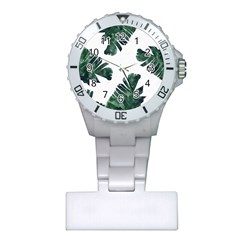 Tropical Leaves Plastic Nurses Watch by goljakoff